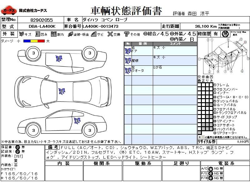 Used 2015 CVT Daihatsu Copen DBA-LA400K Image[3]