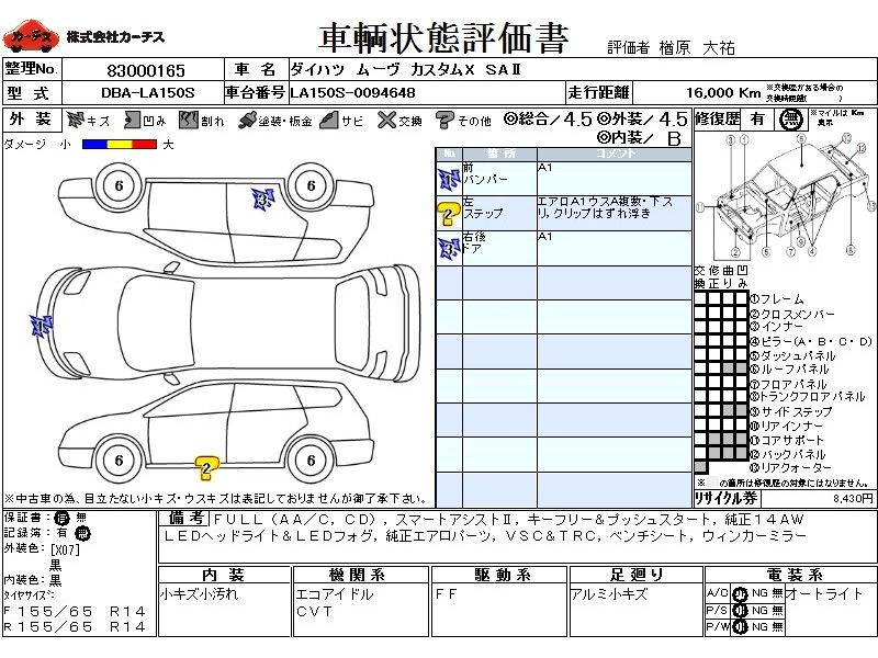 Used 2016 CVT Daihatsu Move DBA-LA150S Image[3]