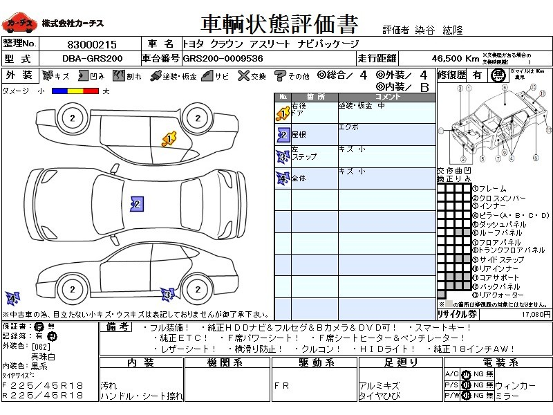 Used 2008 AT Toyota Crown DBA-GRS200 Image[3]