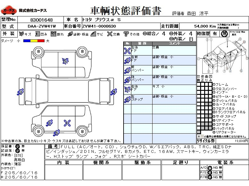 Used 2014 CVT Toyota Prius alpha DAA-ZVW41W Image[3]