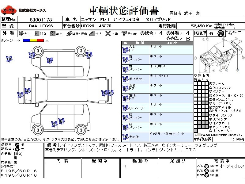 Used 2013 CVT Nissan Serena DAA-HFC26 Image[3]