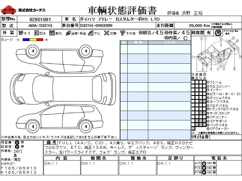 Used 2015 AT Daihatsu Atrai ABA-S321G Image[3]